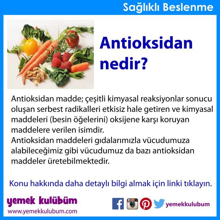 BESLENME : Antioksidan nedir?   http://yemekkulubum.com/kategori/antioksidanlar
