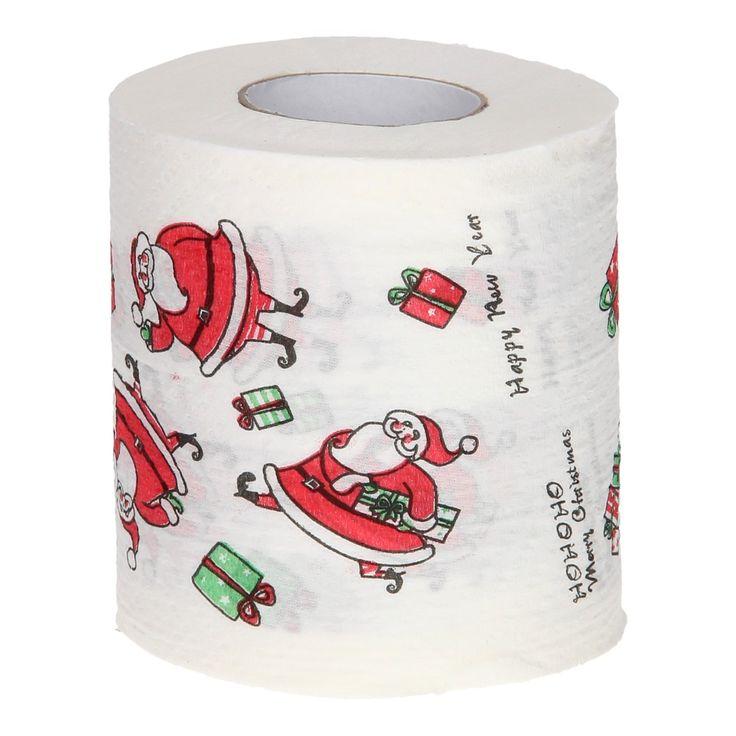 Decoratief toiletpapier in een kerst thema.  Afmeting: 10 x 10 x 10,5 cm    - Toiletpapier Kerst