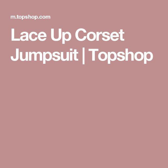 Lace Up Corset Jumpsuit | Topshop