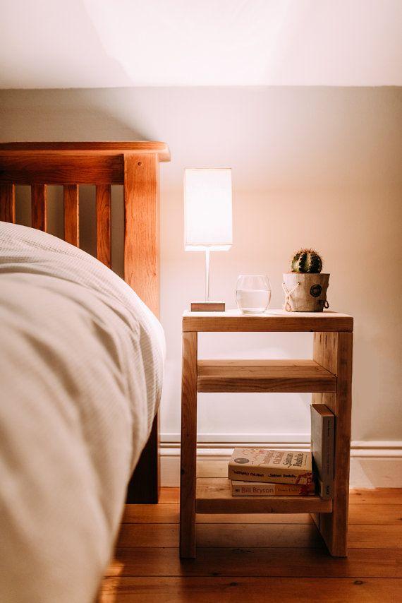 "Rustic scaffolding wood bedside table by TheCraftyDutch on Etsy 15.75"" W x 22.8"" H x 11"" D"