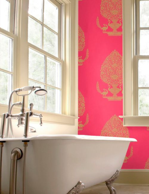 Pink Wallpaper. Only In Dream Home Bc I Donu0027t Think The Husband Would