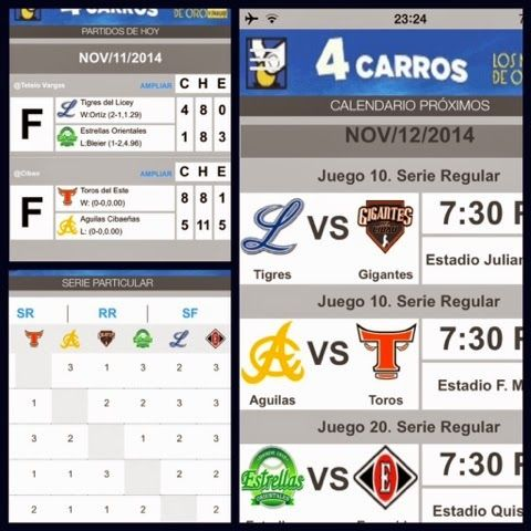 PERIODICO EL CAMBITERO JUVENIL: Beisbol Invernal [Resultados de ayer, Juego de Hoy...