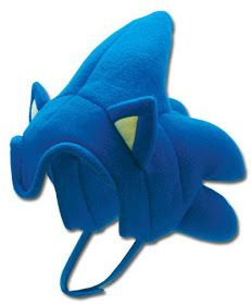 Peluca Sonic, el puercoespín de videojuegos, mascota de Sega, una peluca de peluche con el casco-peinado azul con pinchos de este personaj...