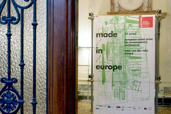 The exhibition Made in Europe, organized by the European Commission and the Fundació Mies van der Rohe, opens today at Palazzo Michiel as a collateral event of the 2014 Venice Biennale. Here is a peek at the 25 years of the Mies/EU Prize on display. Photo: John Hill/World-Architects