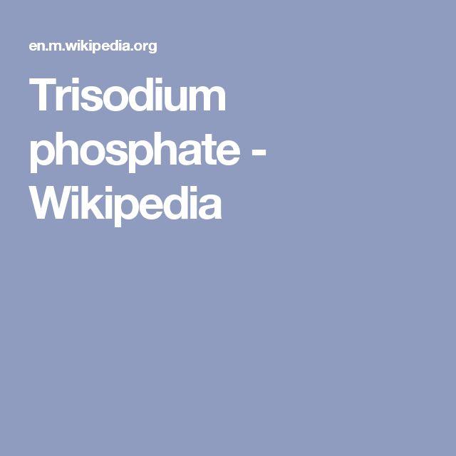 Trisodium phosphate - Wikipedia