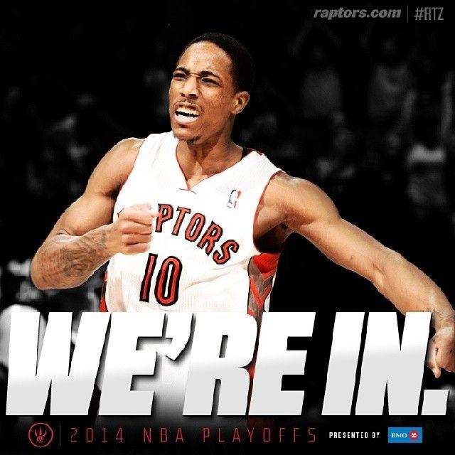 The Toronto Raptors clinch a playoff spot!