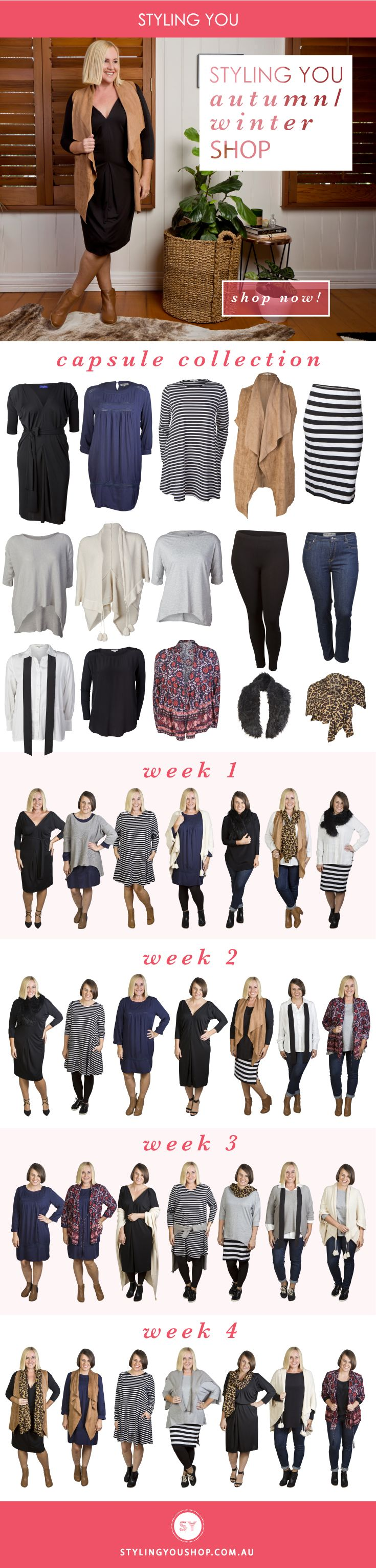 15-piece autumn-winter capsule collection ... 28 different ways to wear it.
