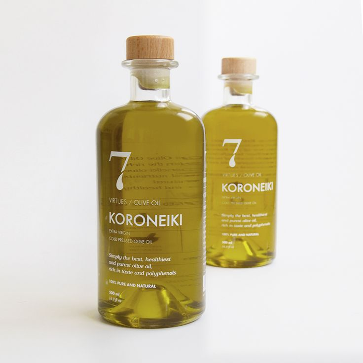 Pure oil in a pure package. This typographical packaging solution is stylish and memorable with it's lovely '7'-logo.