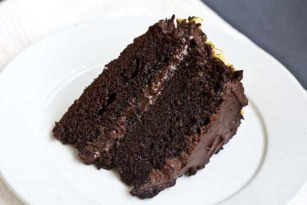 Handed down from my Nana, this is a very simple, plain yet moist and fudgy cake. Serve with whipped cream or your favorite ice cream.