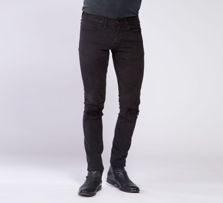 MPT005 - Cycle #cyclejeans #denimjeans #denim #jeans #black #rips #rippedjeans #men #apparel