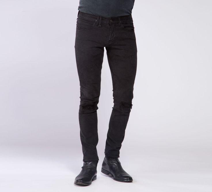 MPT005 - Cycle #cyclejeans #denimjeans #denim #jeans #black #rips #rippedjeans #men #apparel
