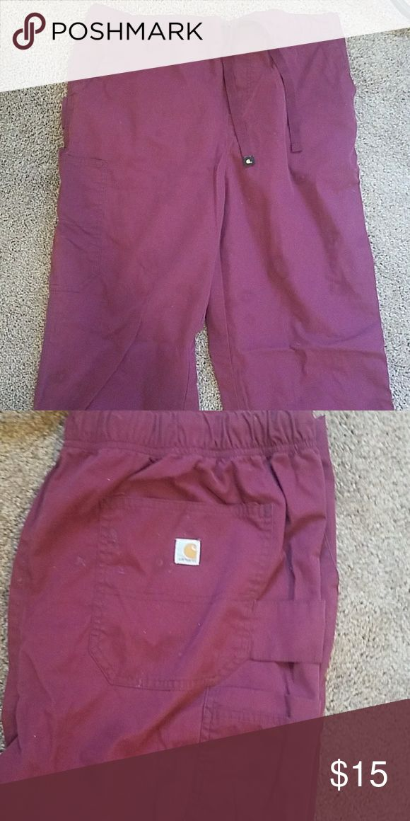 Carhartt Women's scrub pants Maroon Large scrub bottoms, worn a handful of times. In great condition. Carhartt Pants