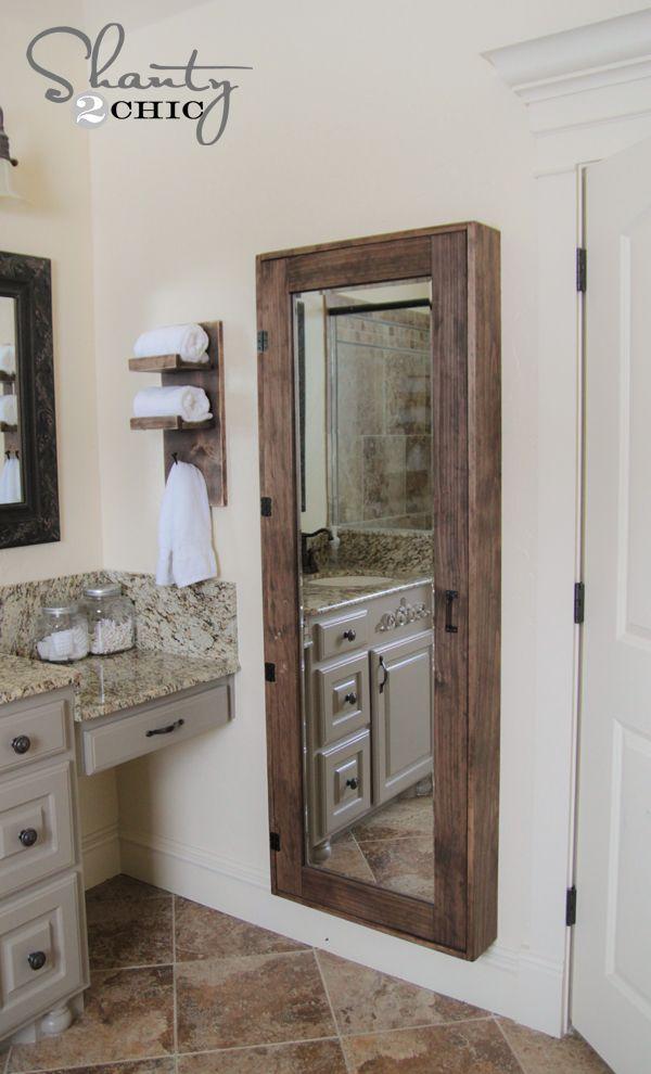 DIY Bathroom Mirror Storage Case 47 best