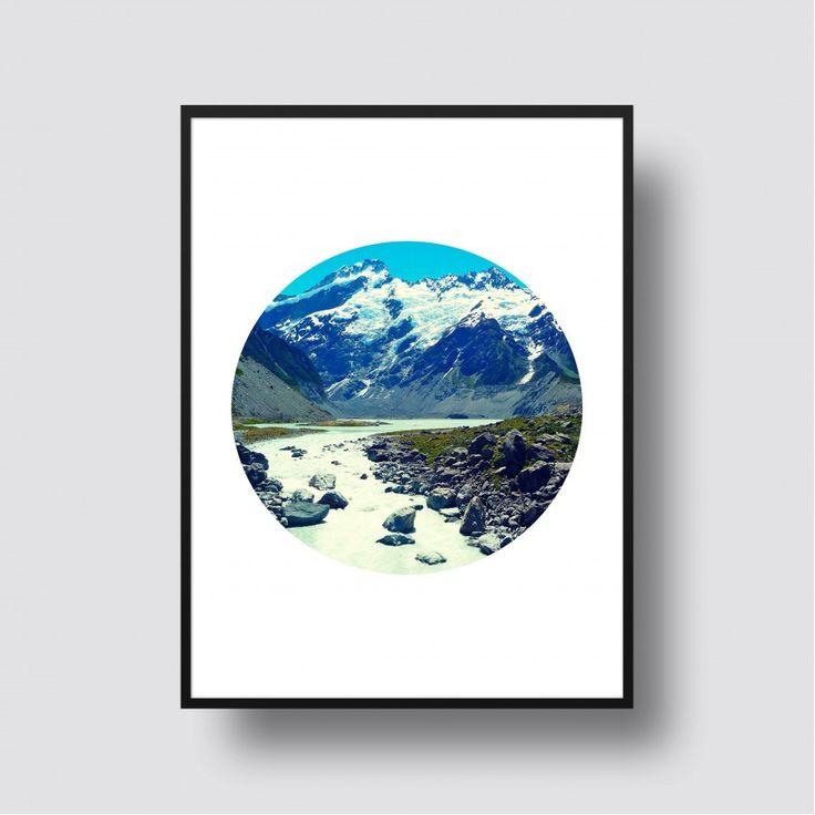 Aoraki / Mount Cook Scenic Print Kiwiana Art
