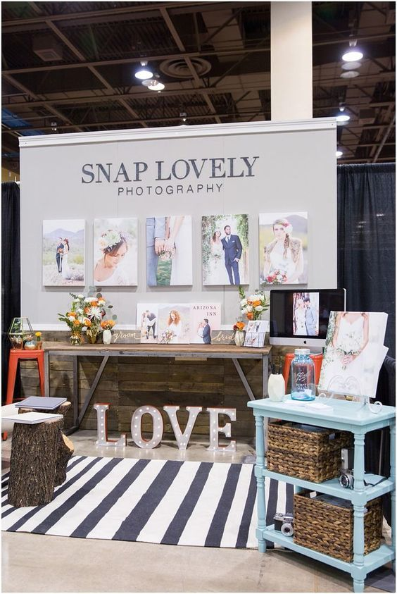 Simple but very effective! Beautiful bridal show #booth by Snap Lovely Photography.