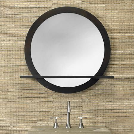 Pin by joann scaccia on bathroom pinterest - Round mirror over bathroom vanity ...