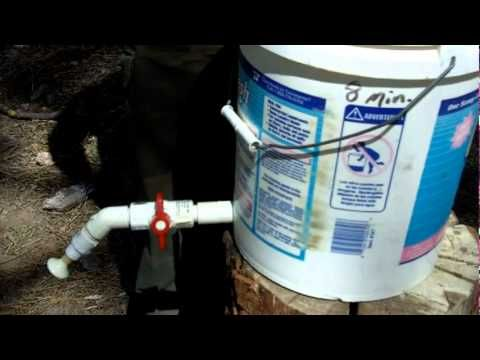 Camp Shower from Five Gallon Bucket - YouTube