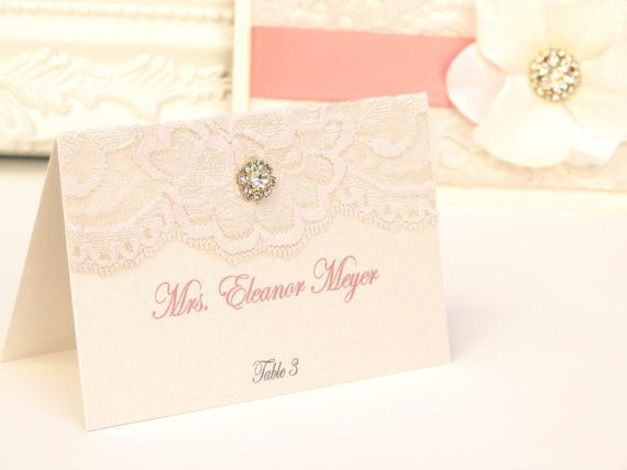VINTAGE GLAMOUR: Coral and Blush Elegant Lace by peachykeenevents