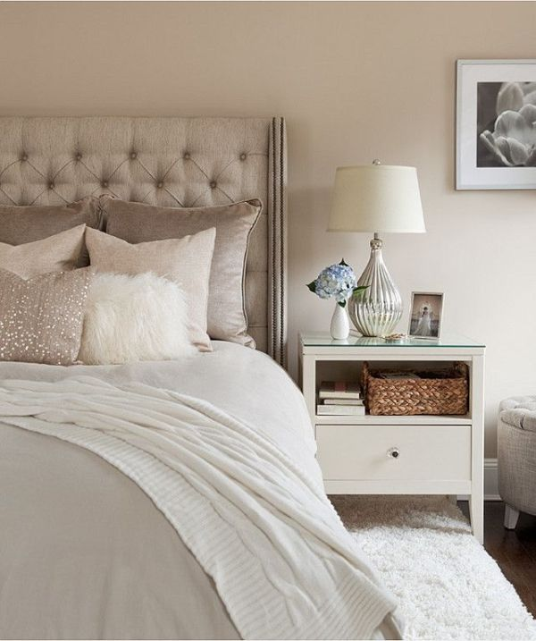 Beige for the bedroom and bathroom