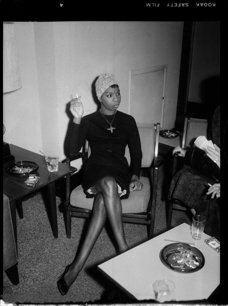 "Stunning shot of Nina Simone backstage in Pittsburgh by legendary photographer Charles ""Teenie"" Harris, circa 1965 - AFROPUNK"