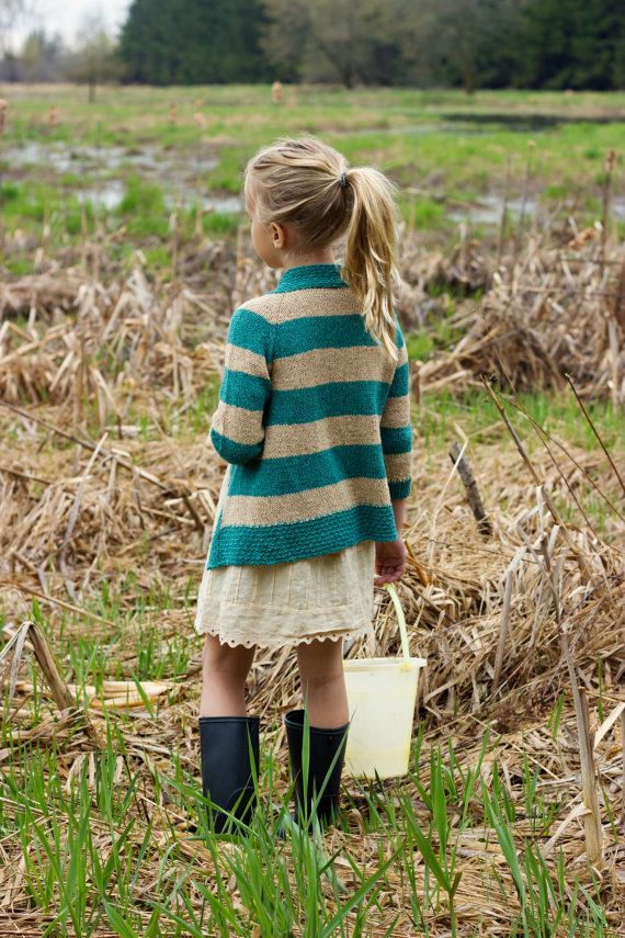 PDF Pattern Clam Digger Children's Cardigan by AvrellynRose, $5.50