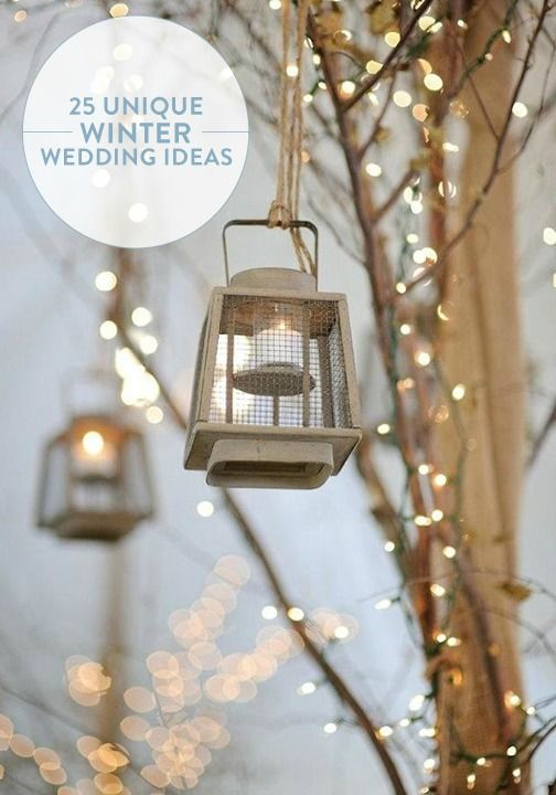 It's never too early to start planning your winter wedding. Check out these 25 unique ideas to celebrate your big day.
