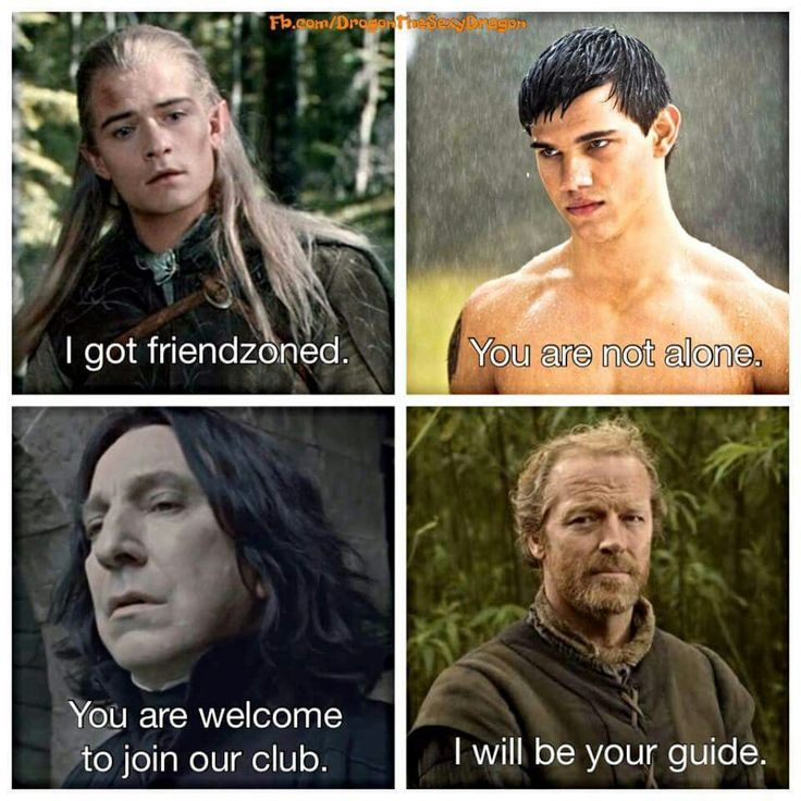 Game of Thrones, LOTR, Twilight and Harry Potter Friendzoned crew!