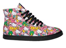 {Bittersweet...I never could find these in my size for less than 100 dollars T-T} Hello Kitty Hi-top Vans