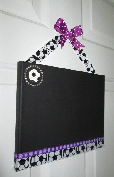 Decorative Soccer Chalkboard 8 x 10 by CBMessages on Etsy, $18.00