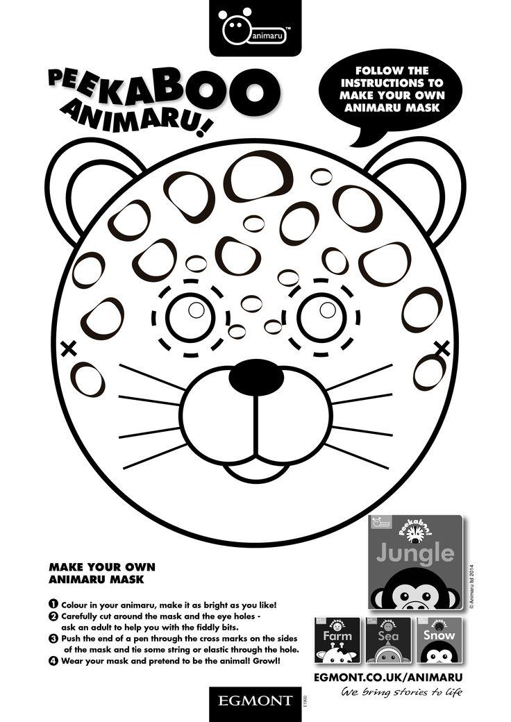 make your own animaru mask and join in the animal fun growl - Fun Kids Sheets
