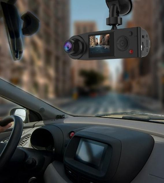 Dual 190/° Ultra Wide Angle Front and Inside Cabin Full HD Dashboard Camera SOLIOM G1 380/° Full Angle Car Dash Camera