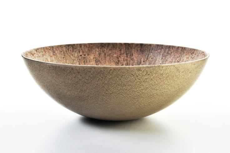 Concrete decorative bowl by Gravelli in golden - 3 sizes.