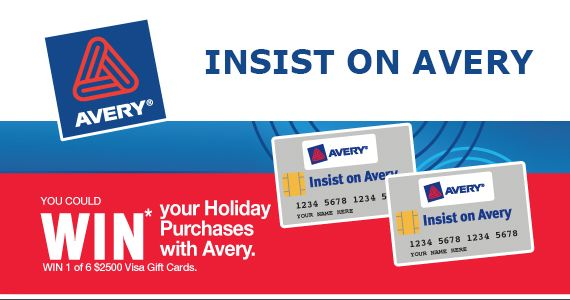 Win Your Holiday Purchases with Avery    Enter Here: http://free4him.ca/sweepstakes/win-your-purchases-with-avery/