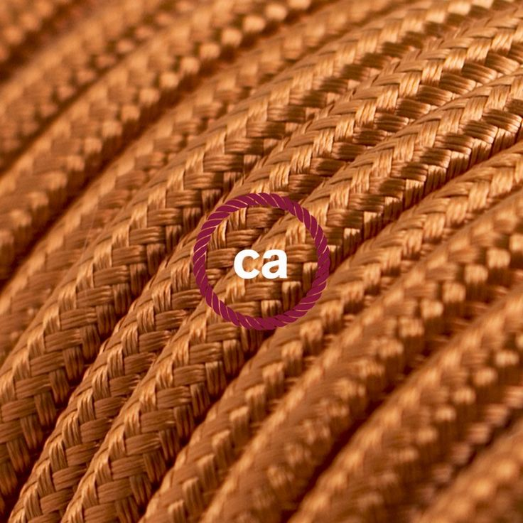 Cognac - Cloth Covered Round Wire. Enter PINIT10 for 10% off your order!!