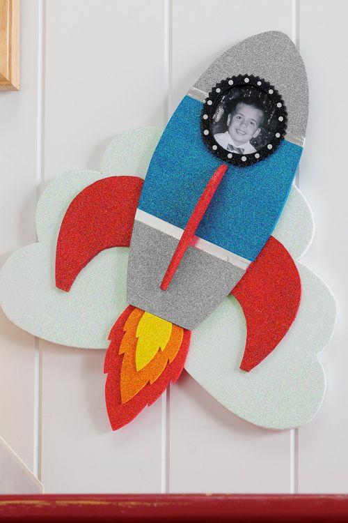 Craft Painting - Sparkle Rocket Photo Frame