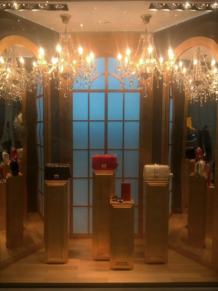 Dior Secret Garden windows, Jakarta visual merchandising