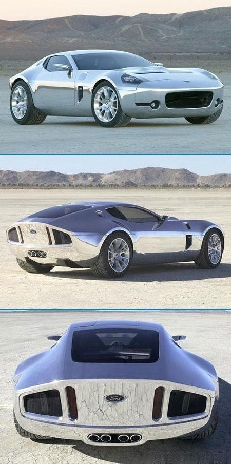 Chrome Ford Shelby GR-1 concept via carhoots.com