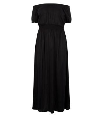 Plus Size Black Gypsy Maxi Dress
