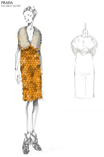 #Prada sketches for TheGreatGatsby movie costumedesign