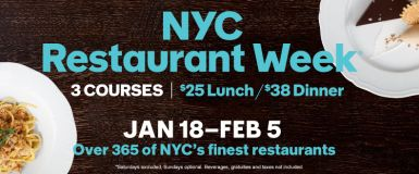 Dine on 3-Course Meals from $25 at 350+ NYC Eateries w/Restaurant Week