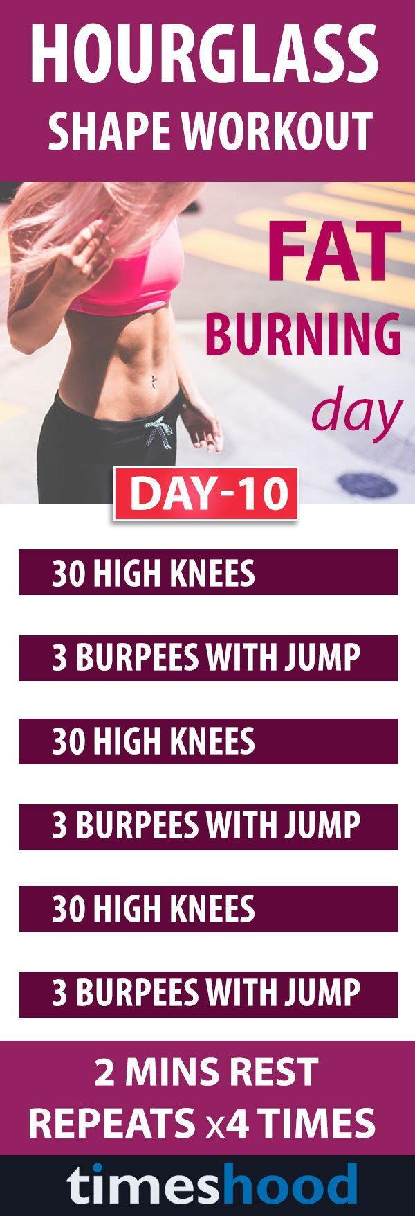Try this total body workouts for an hourglass figure. 10 days workouts plan to get perfect belly curves. This whole workouts consist of 3 steps to get hourglass shape. Fat burning workouts plan. weight loss workouts for women.