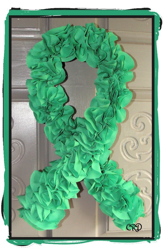 Green Organ Donor Support Wreath