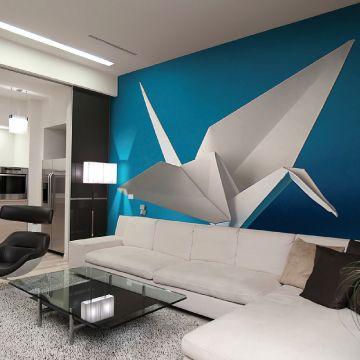 mur tendu acoustique imprim une toile aux propri t s acoustiques est fix e sur un mur gr ce. Black Bedroom Furniture Sets. Home Design Ideas