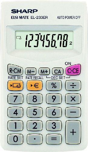 #Sharp_zsebszámológép #Sharp #Elsi_Mate #EL_233ER #zsebszámológép zsebszámológép 8 digites nagy LCD kijelzővel. A zsebszámológép mérete: 127 mm x 64 mm x 14 mm. LR1130. Az elem cserélhető. A számjegyek mérete: 9 mm. A Sharp Elsi Mate EL-233ER #zsebszámológép_használata. Sharp Elsi Mate #EL_243S #napelemes_zsebszámológép Kis méretű zsebszámológép 8 digites nagy LCD kijelzővel. Kihajtható A zsebszámológép mérete: 128 mm x 67 mm x 15 mm.  A számjegyek mérete: 14 mm. #Sharp_Elsi_Mate EL-243S