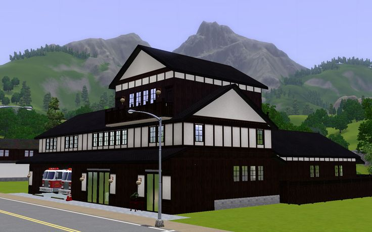 """Mod The Sims - Japanese style workplace """"Fire Station"""""""