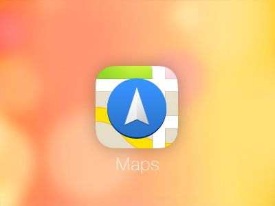 iOS 7 Maps Icon by Gabriel Ghnassia. iOS 7 Redesigns. #mobile #app #icons #iOS7