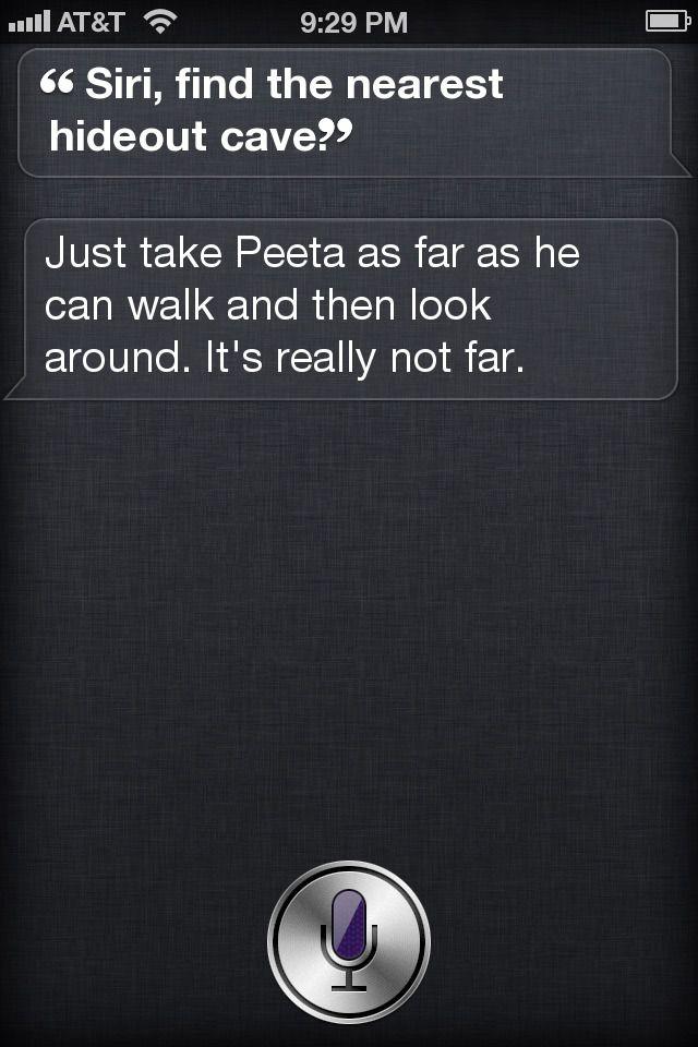 : Hungergames Funny, The Hunger Games Humor Funny, Thg Funny, Mockingjay Funny, Siri Funny, Ahh Siri, Awesome Siri, Funny Siri, Funny Hunger Games