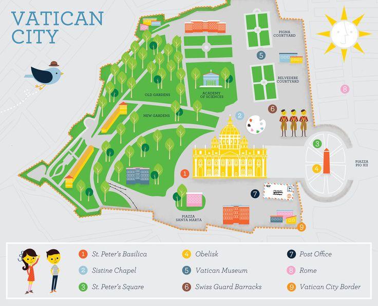 Best Vatican City Maps Images On Pinterest Vatican City City - Vatican city rome map