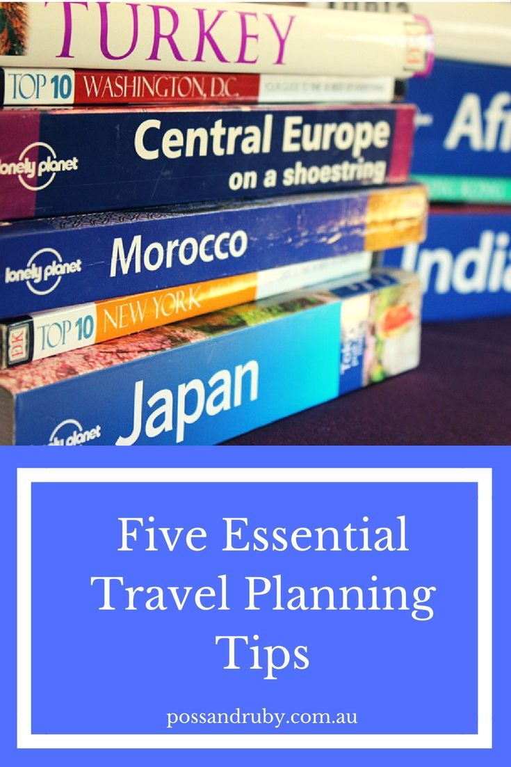 Top tips for making the most or your trips by planning ahead.