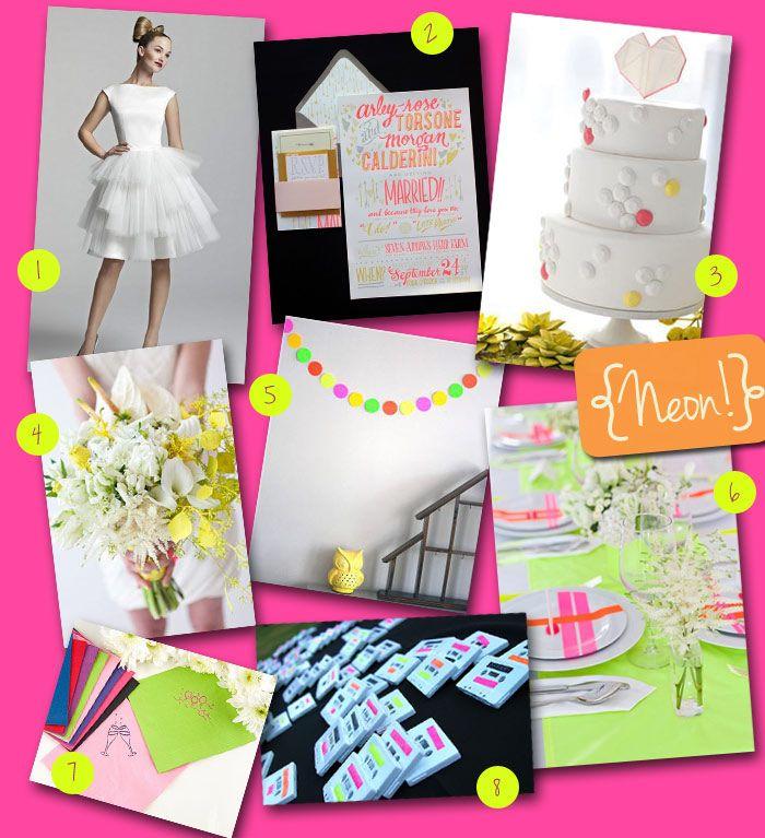 Wedding Theme: Neon! | Wedding Tips & Trends - Bridal Blog